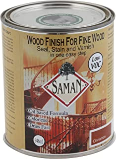 SamaN SAM-316-1L 1-Quart Interior Stain for Fine Wood for Seal, Stain and Varnish, Cinnamon