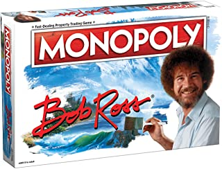 Monopoly Bob Ross | Based on Bob Ross Show The Joy of Painting | Collectible Monopoly Game Featuring Bob Ross Artwork | Of...