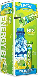 Zipfizz Healthy Energy Drink Mix, Hydration With B12 & Multi Vitamins, NEW, Limon, 20 Count