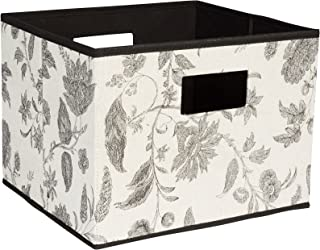 Household Essentials 620 Open Storage Bin with Cutout Handles, Single Unit, Green