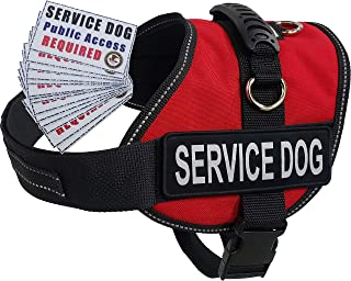 Activedogs Service Dog Air-Tech Vest Harness + Free ADA Cards + Free Reflective Service Dog Patches