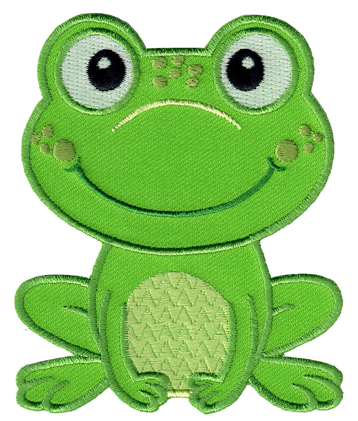 PatchMommy Iron On Patch, Frog - Appliques for Kids Children