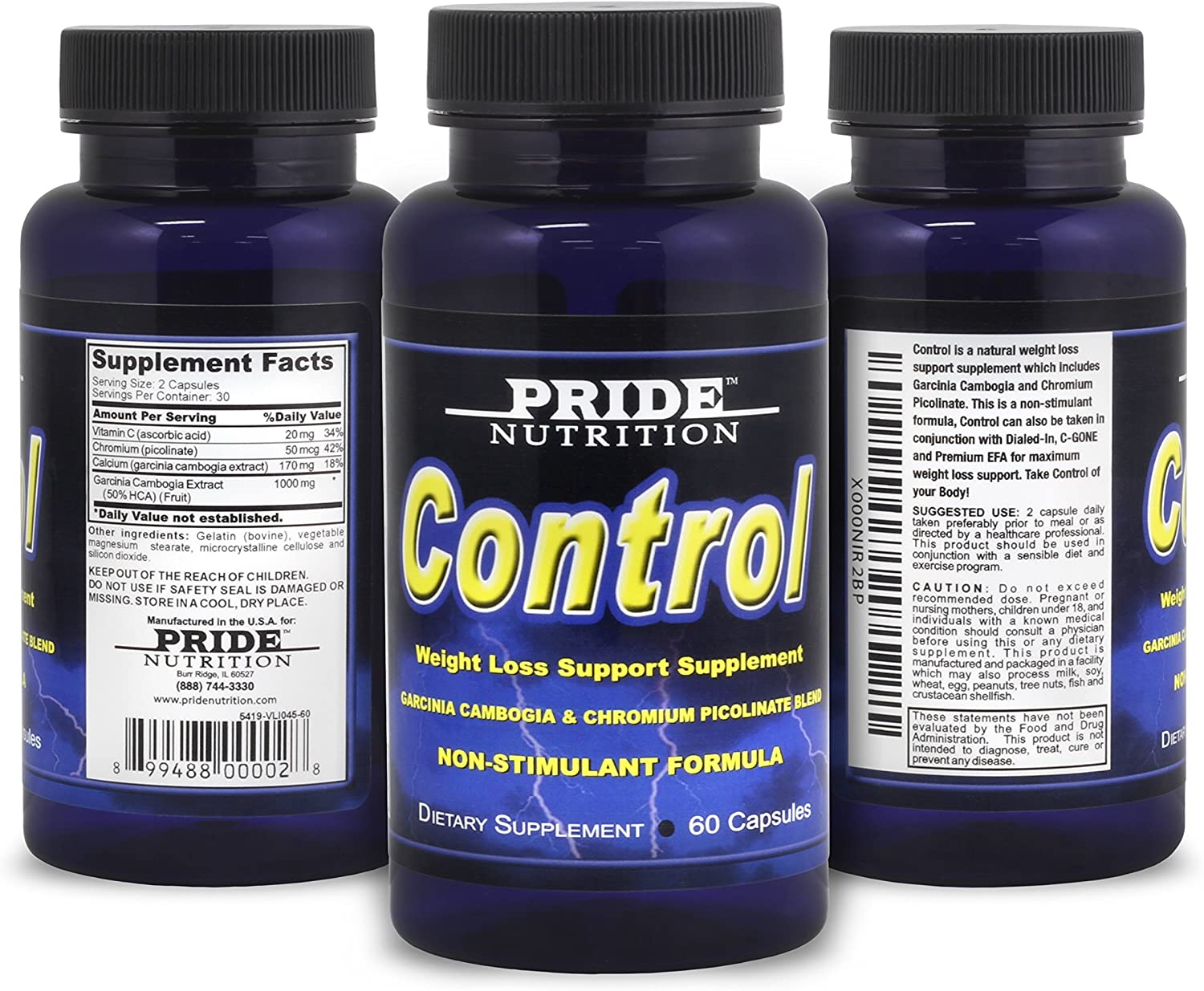 Control - Award Natural Industry No. 1 Appetite Suppressant Non Stimulant Best Fat