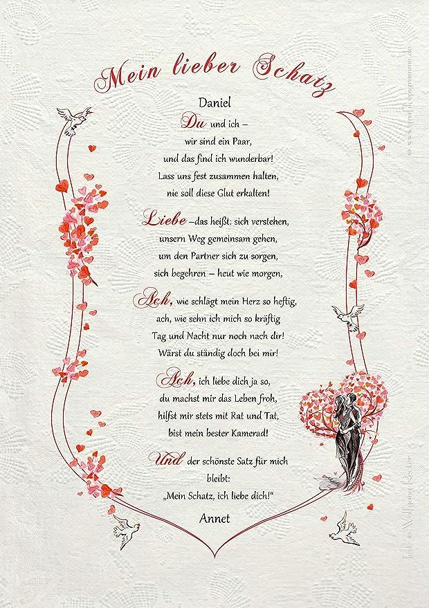 Mein du schatz gedicht bist Liebestexte: 52