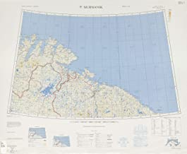Map Poster - NR 35, 37 Murmansk [Finland, Norway, U.S.S.R.] Edition 1301, Edition 5-GSGS, Gloss finish