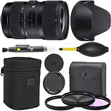Sigma 18-35mm f/1.8 DC HSM Art Lens for Canon EF (210-101) + AOM Pro Starter Bundle Kit - International Version (1 Year AOM Warranty)