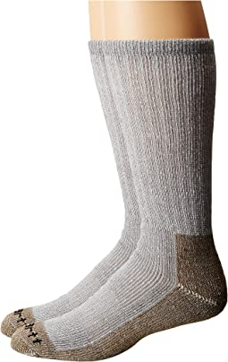 Full Cushion Steel Toe Synthetic Work Boot Socks 2-Pack