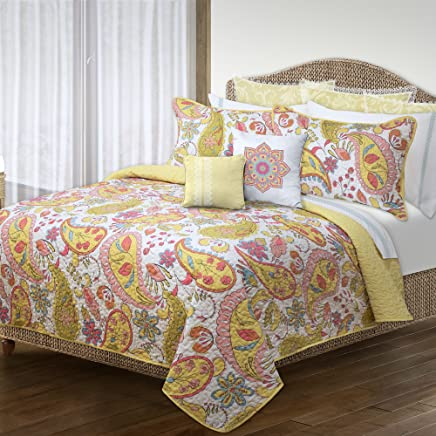 Safdie 60115.3K.29 King Bliss Yellow Quilt Set (3 Piece)