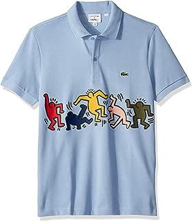 Men's Short Sleeve Pique Graphic Regular Fit Polo