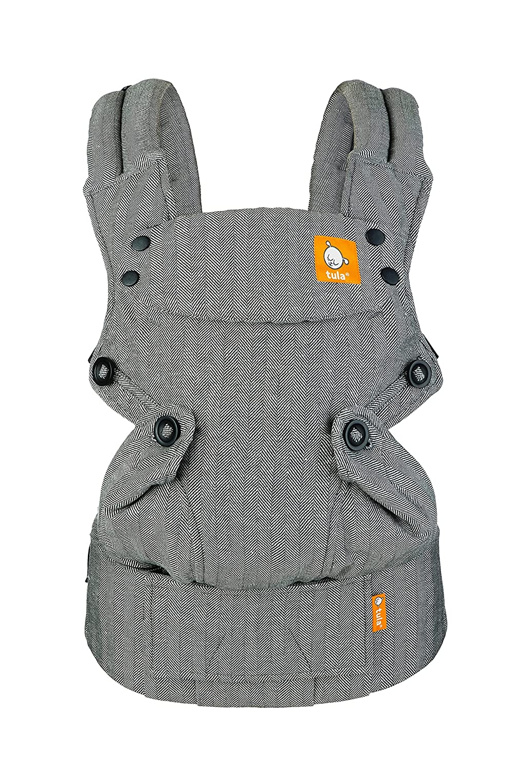 Baby Tula Explore Baby Carrier, Adjustable Newborn to Toddler Carrier, Ergonomic and Multiple Positions for 7 – 45 pounds (Linen Ash)