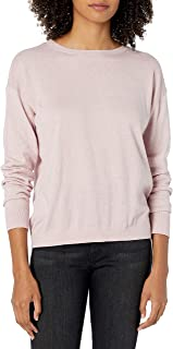 The Drop Women's Corrine Loose Long Sleeve Pullover Crew Neck Sweater