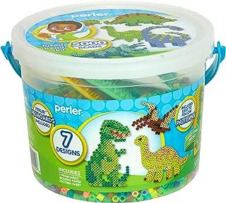 Perler Dinosaur Craft Bead Bucket Activity Kit, 5004 pcs