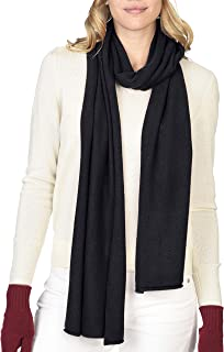 Unisex Jersey Long Knit Scarf 100% Pure Cashmere Ultra Warm Winter Accessories