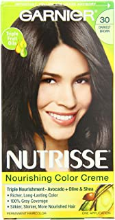 Garnier Nutrisse Permanent Haircolor, 30 Darkest Brown Sweet Cola
