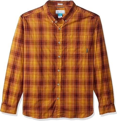 Columbia Hommes's Cooper Lake manche longue Shirt, Canyon or Plaid, XL