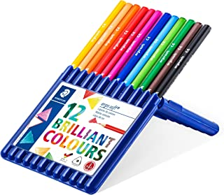 Staedtler Ergosoft Colored Pencils, Set of 12 Colors in Stand-up Easel Case (157SB12)