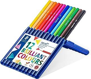 Staedtler Ergosoft 157, Crayons de couleur tendres pour dessin et coloriage, Prise en main douce et confortable, Étui chev...