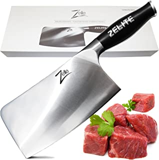 Zelite Infinity Cleaver Knife 7 Inch - Comfort-Pro Series - German High Carbon Stainless Steel - Razor Sharp