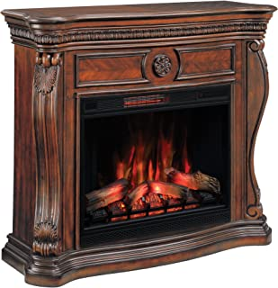 ClassicFlame Lexington Wall Fireplace Mantel, Empire Cherry (Electric Fireplace sold separately)