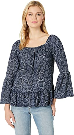 Snake Square Wide Sleeve Top