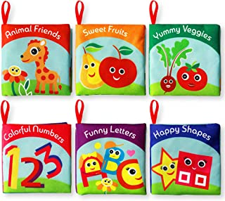 Cloth Books for Babies (Set of 6) - Premium Quality Soft Books for Toddlers. Touch and Feel Crinkle Paper. Cloth Books for...