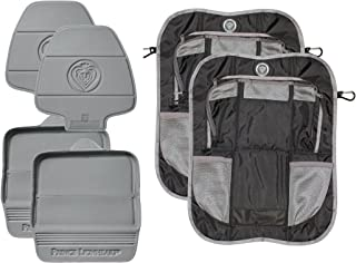 Prince Lionheart 2 Stage Seatsavers with Backseat Organizers, Set of 2, Grey/Black