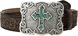 M&F Western - Scroll Pierced Turquoise Cross Belt
