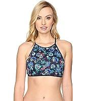Tommy Bahama - Folk Floral Reversible High-Neck Halter Bikini Top