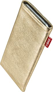 fitBAG Groove Gold Custom Tailored Sleeve for T-Mobile MDA Compact V. Fine Nappa foil Leather Pouch with Integrated Microfibre Lining for Display Cleaning