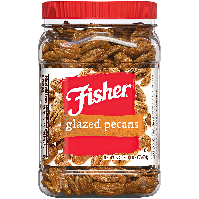 Fisher Snack Pecans, Glazed,
