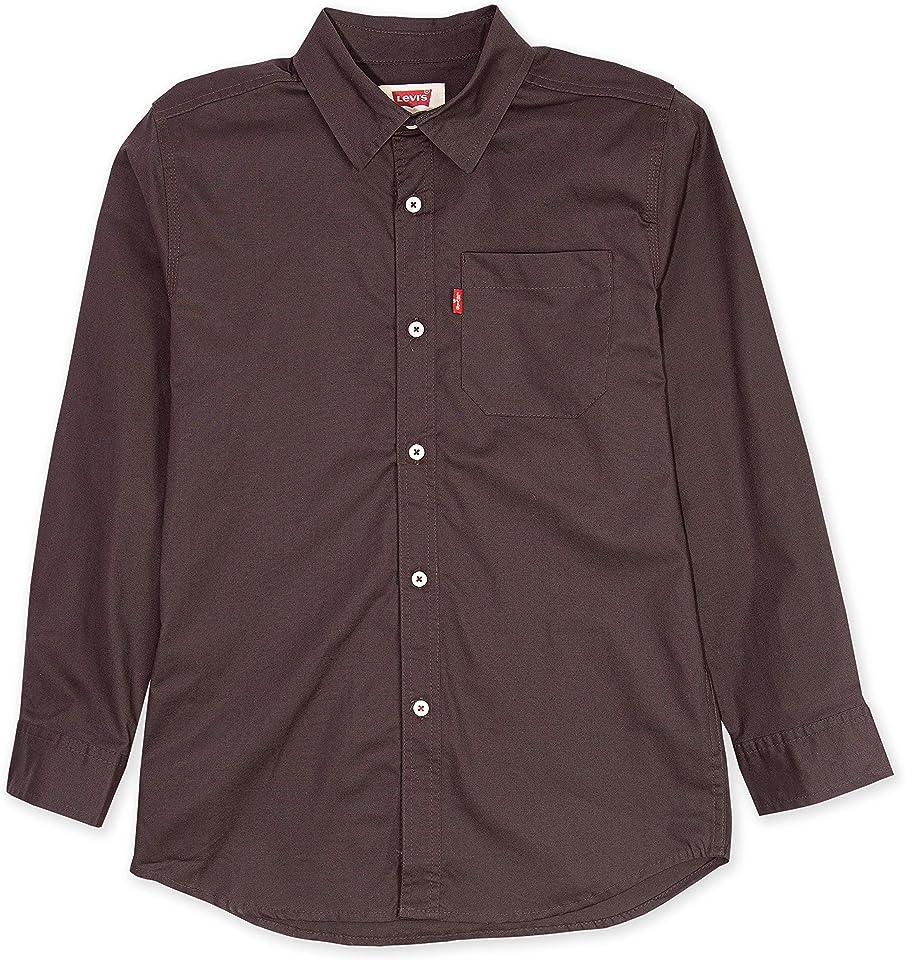 Jungen Long Sleeve One Pocket Shirt Hemd mit Button-Down-Kragen