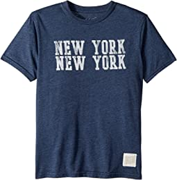 The Original Retro Brand Kids - New York New York Heathered Tee (Big Kids)