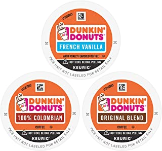 Dunkin' Donuts Best Sellers Coffee Variety Pack, 60 K Cups for Keurig Coffee Makers (Packaging May Vary)