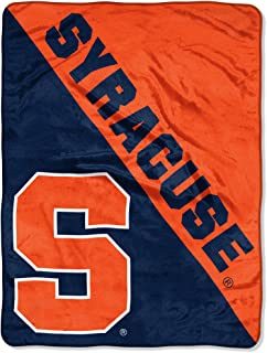 The Northwest Company Officially Licensed NCAA Syracuse Orange Label Plush Raschel Throw Blanket 50 x 60 Multi Color