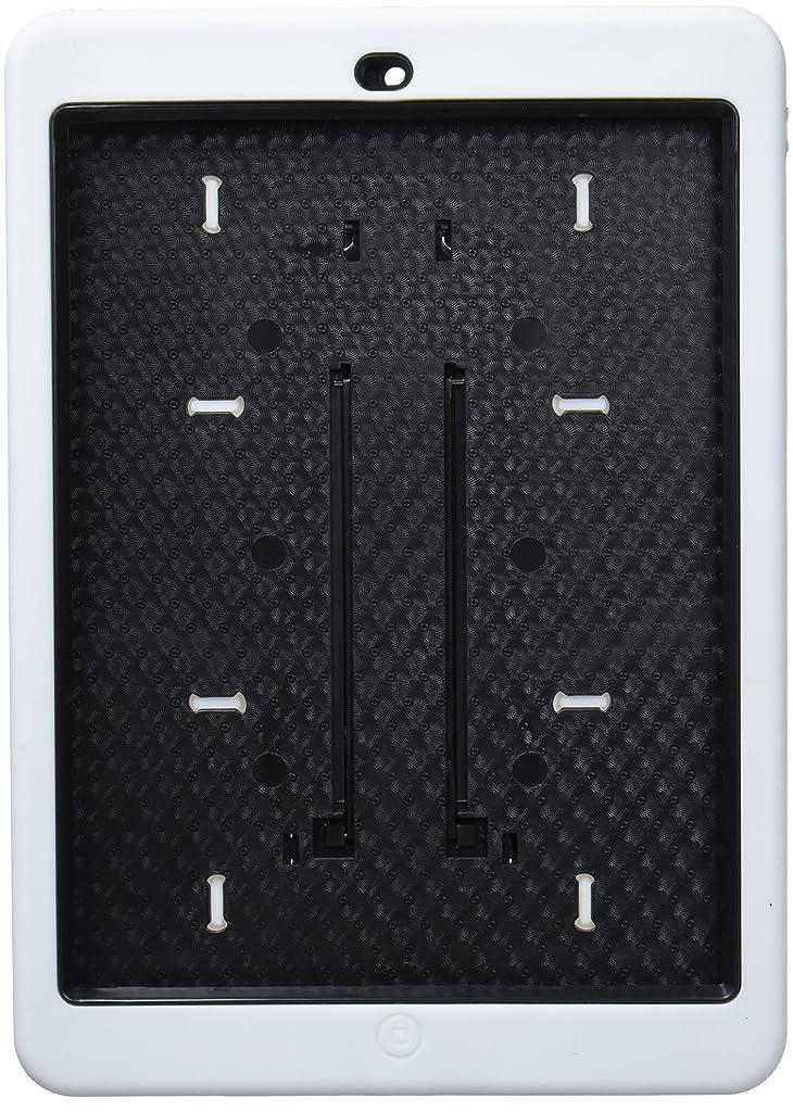 温帯センサー辞任PLATA iPad Air ケース カバー 衝撃吸収 保護 プロテクト ハード ガード ケース 【 ホワイト 白 white 】 IPD5-13WH
