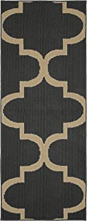 Garland Rug Large Quatrefoil Area Rug, 2 x 5, Cinder/Tan