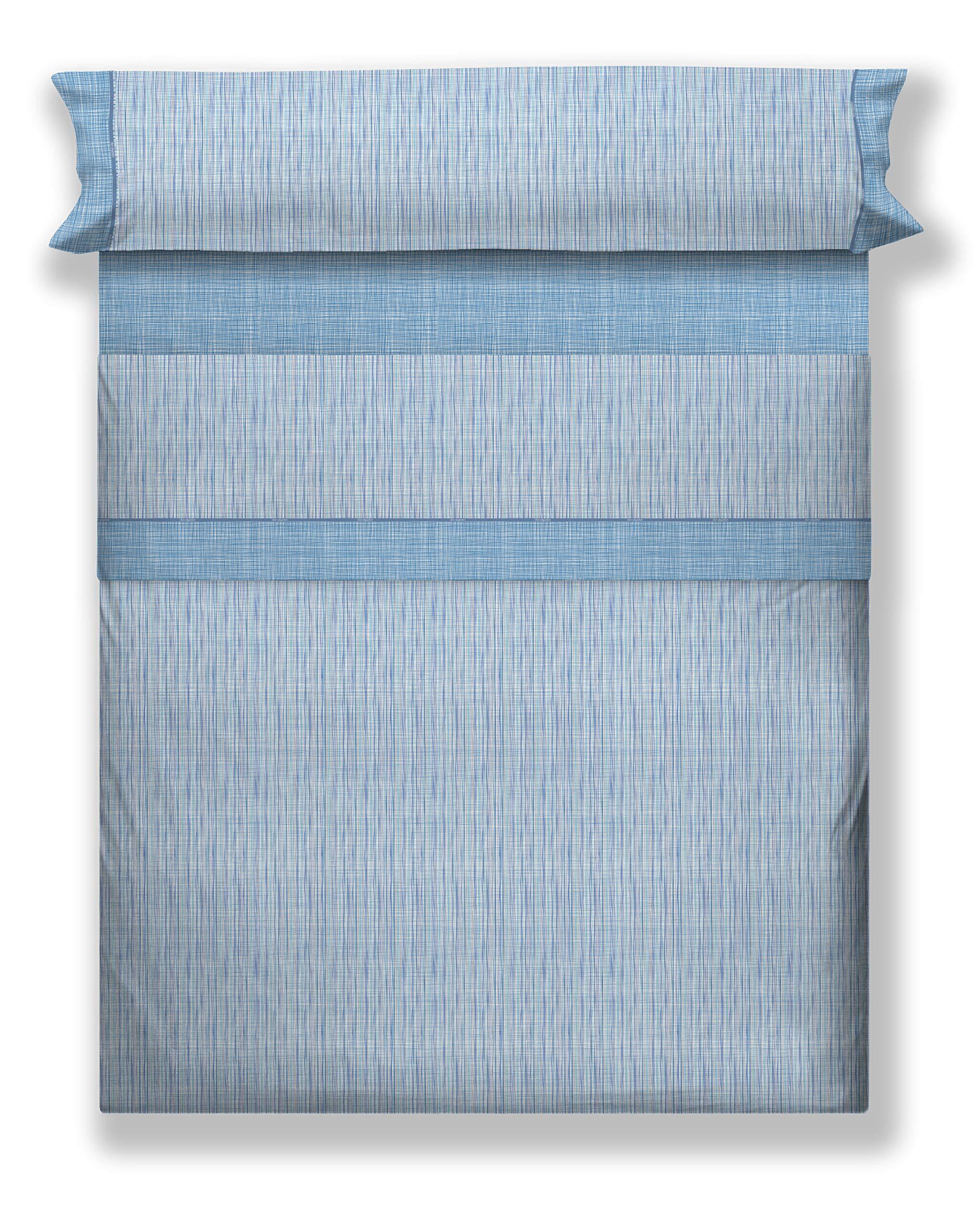 DON ALGODÓN Juego de Sábanas Roqueta, Azul, 135 Cm: Amazon.es: Hogar