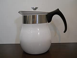 Vintage Centura By Corning 6 Cup Beverage Maker Tea Coffee Pot All White