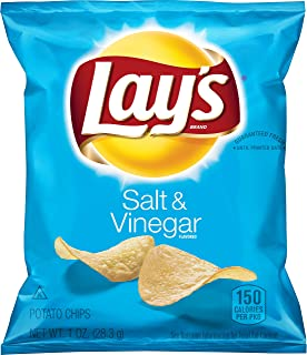 Lay's Salt & Vinegar Flavored Potato Chips, 1 Ounce (Pack of 40)