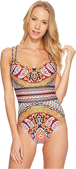 Nanette Lepore Super Fly Paisley Goddess One-Piece