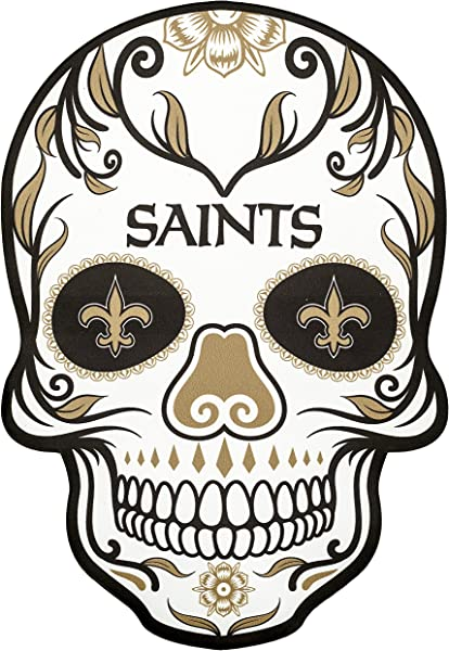 Applied Icon NFL Unisex NFL Outdoor Small Dia De Los Muertos Skull Decal