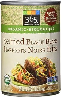 365 Everyday Organic Refried Black Beans Net weight 13.5oz(1lb)