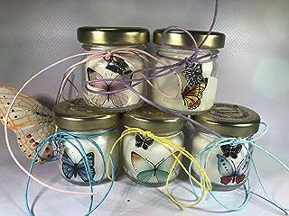 50 mini candele profumi misti segnaposto farfalle in vasetto con tappo personalizzato Matrimoni Comunioni Battesimi Comple...