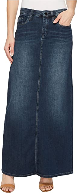 Long Denim Skirt in Masterbathe