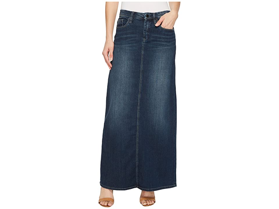 Blank NYC Long Denim Skirt in Masterbathe (Masterbathe) Women
