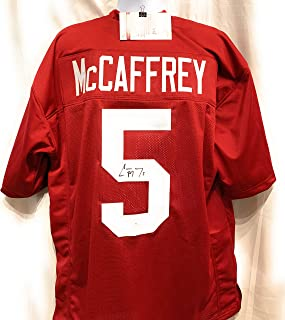 Christian McCaffrey Stanford Cardinal Signed Autograph Custom Jersey JSA Witnessed Certified