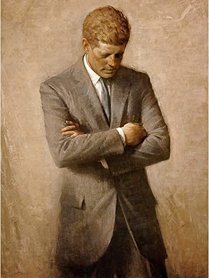 Shikler Official Portrait US President John Kennedy JFK Wall Art Print Framed