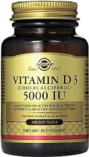 Solgar Vitamin D3 Cholecalciferol 5000 IU Softgels, 100 Count