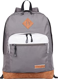 Bestlife Lightweight Backpack School, Classic Basic Water Resistant Casual Daypack (Gray)