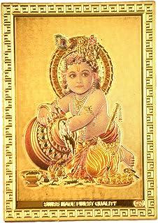 Haristore Little Butter Krishna Gold Foil Magnet (Pack of 10) for Return Gifting Purpose